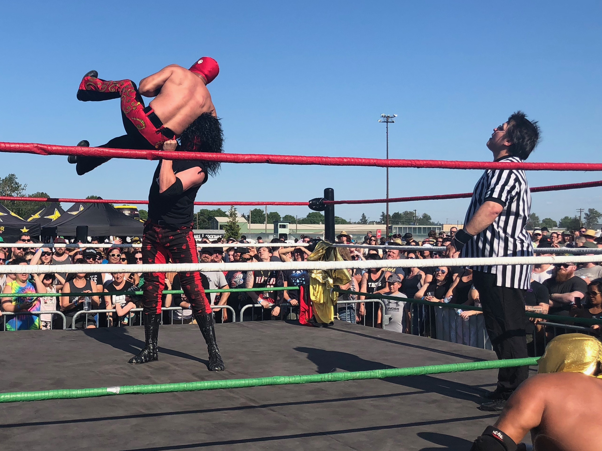 Lucha Libre Wrestling at the 2018 stop of Sabroso Craft Beer, Taco & Music Festival in Portland, Oregon.
