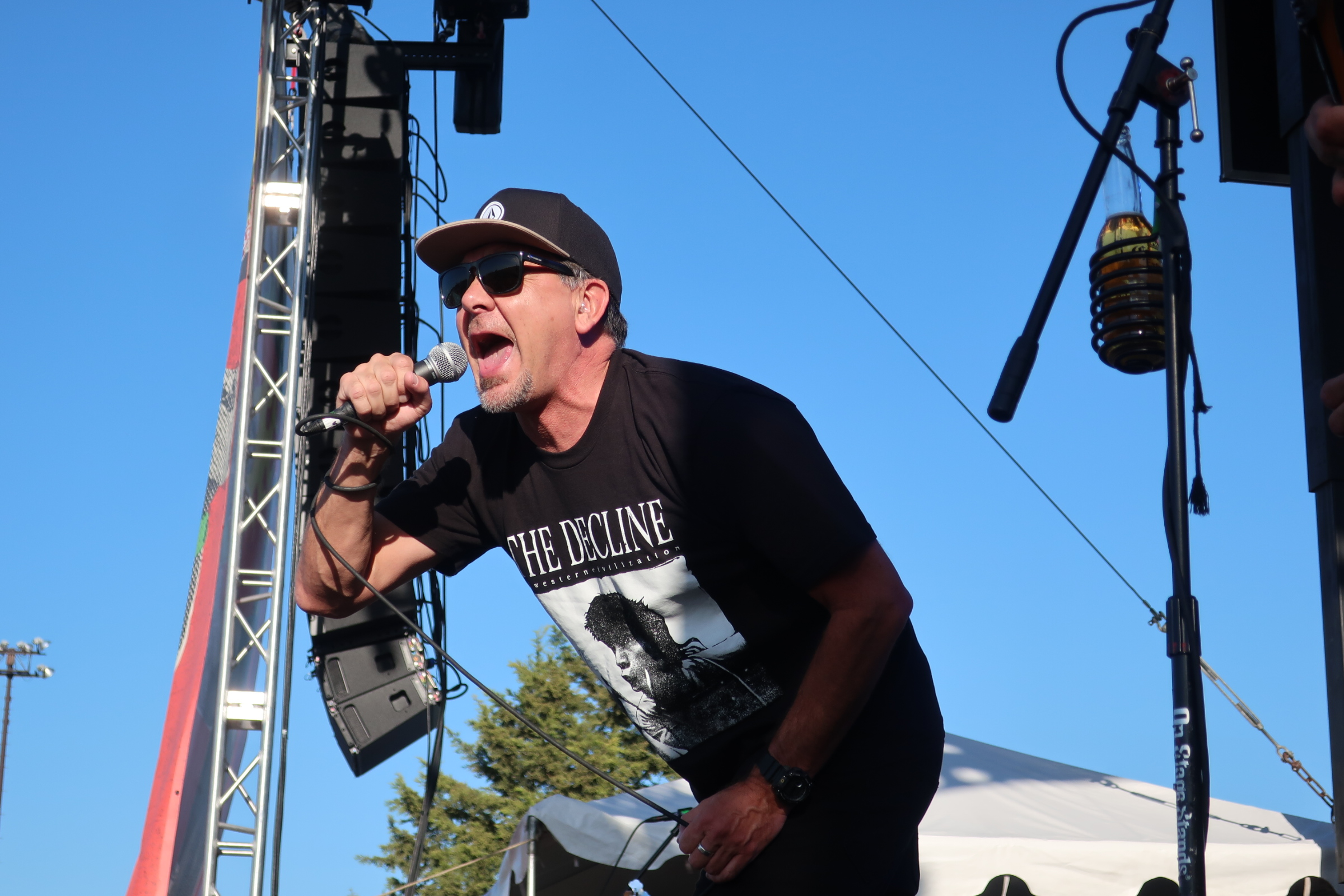 Pennywise's Jim Lindberg at the 2018 stop of Sabroso Craft Beer, Taco & Music Festival in Portland, Oregon.