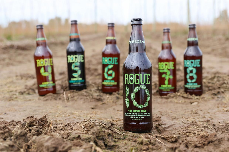 image of 10 Hop IPA courtesy of Rogue Ales