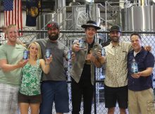image of G. Love with the team at GoodLife Brewing courtesy of GoodLife Brewing