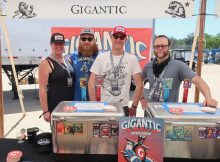 The Gigantic Brewing crew all set up at the 2018 Firestone Walker Invitational Beer Fest.