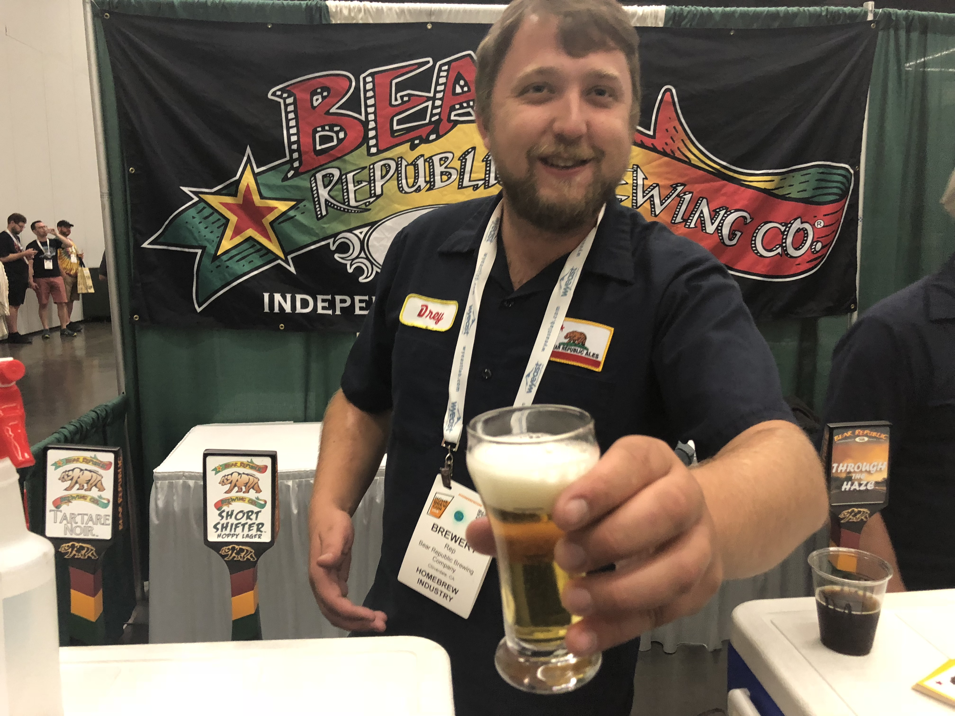 Bear Republic came up from California to pour during the Homebrew Con 2018 Kickoff Party.