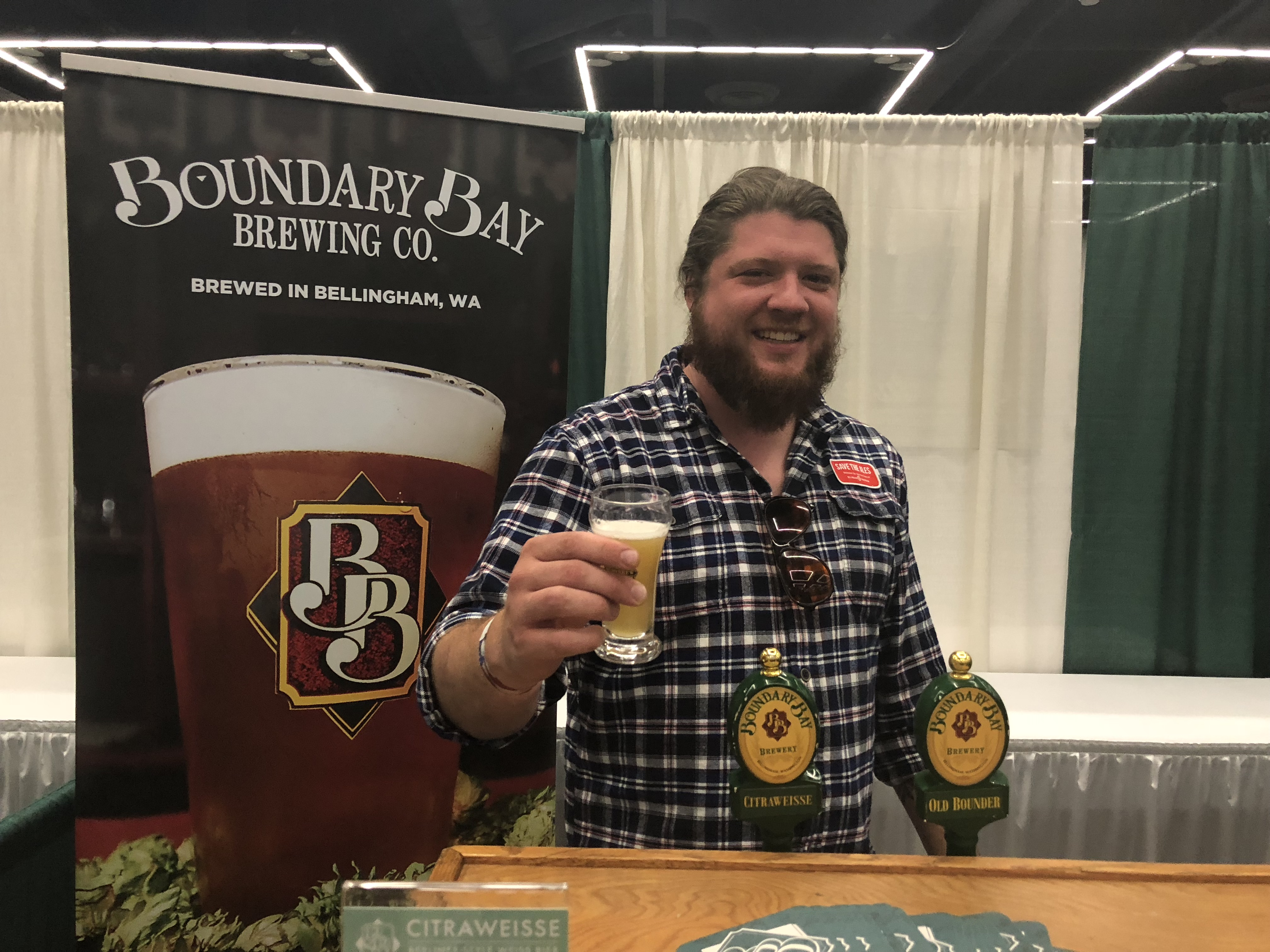 Boundary Bay pouring beer during the Homebrew Con 2018 Kickoff Party.
