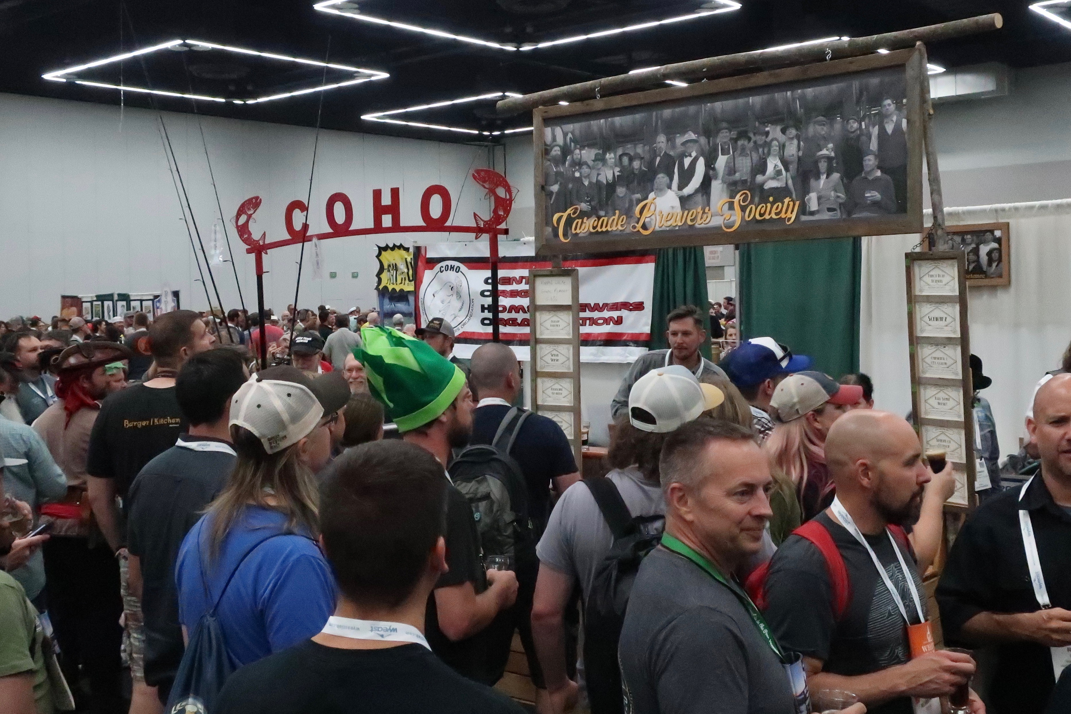COHO and Cascade Brewers Society during Club Night at Homebrew Con 2018.