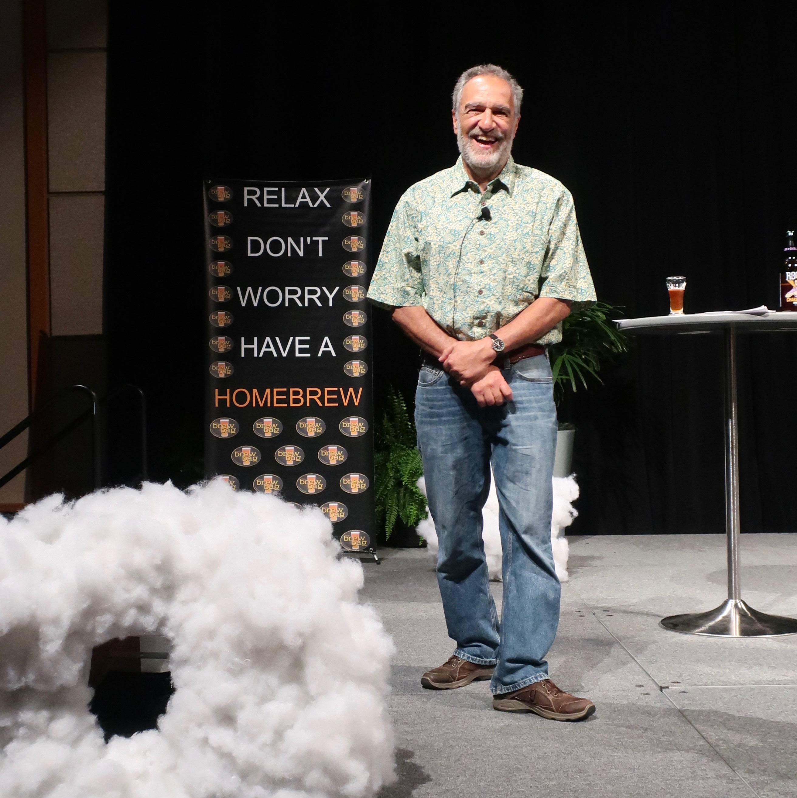 Charlie Papazian during the Keynote Address at Homebrew Con 2018.