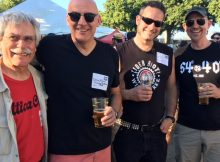 Fred Bowman, Doug Rehberg, Abram Goldman-Armstrong and Bolt Minister at the Oregon Brewers Guild Brewers Dinner prior to the start of the 2018 Oregon Brewers Festival. (FoystonFoto)