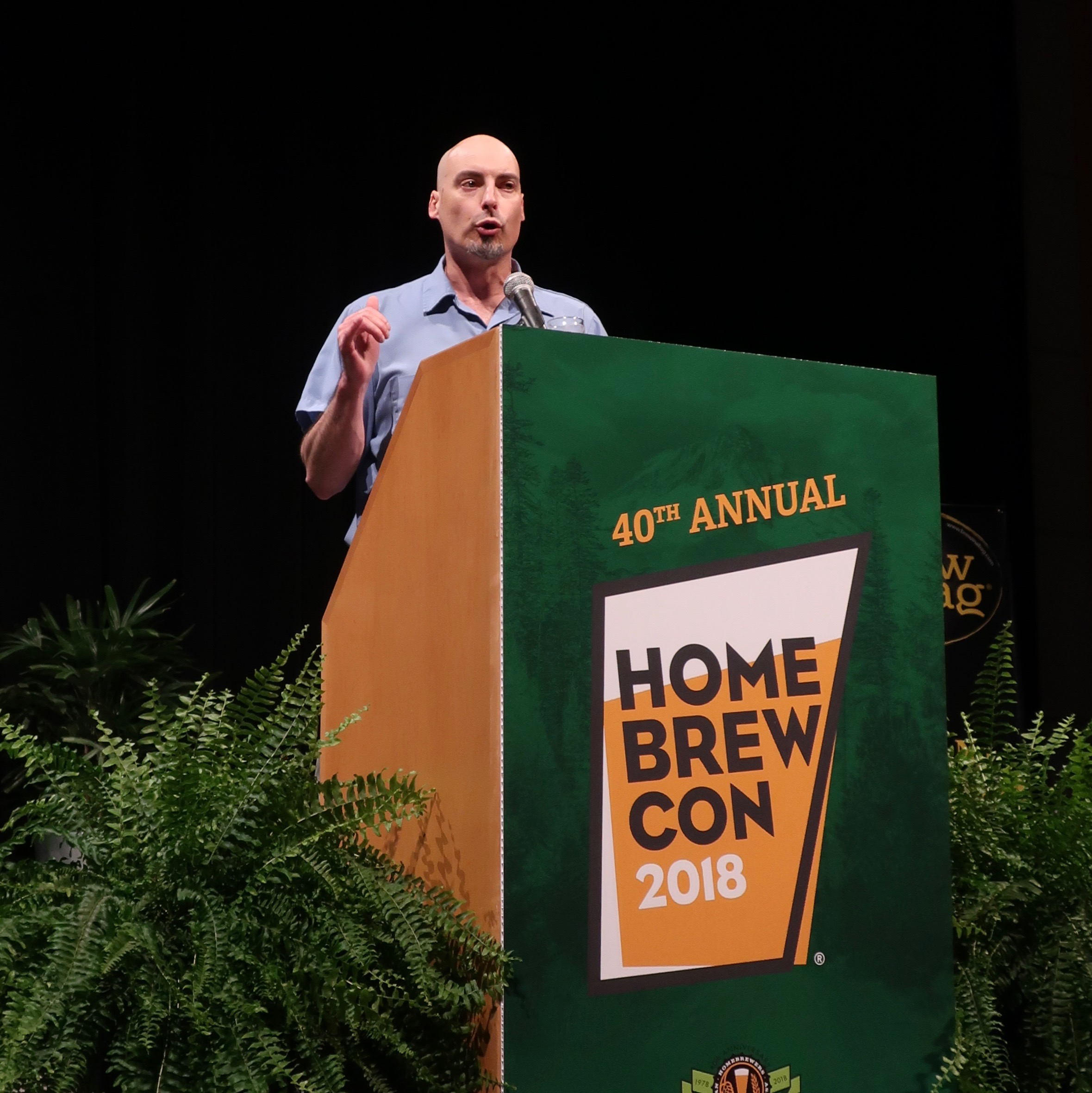 Gary Glass, AHA Director, speaking during the Keynote Address at Homebrew Con 2018.