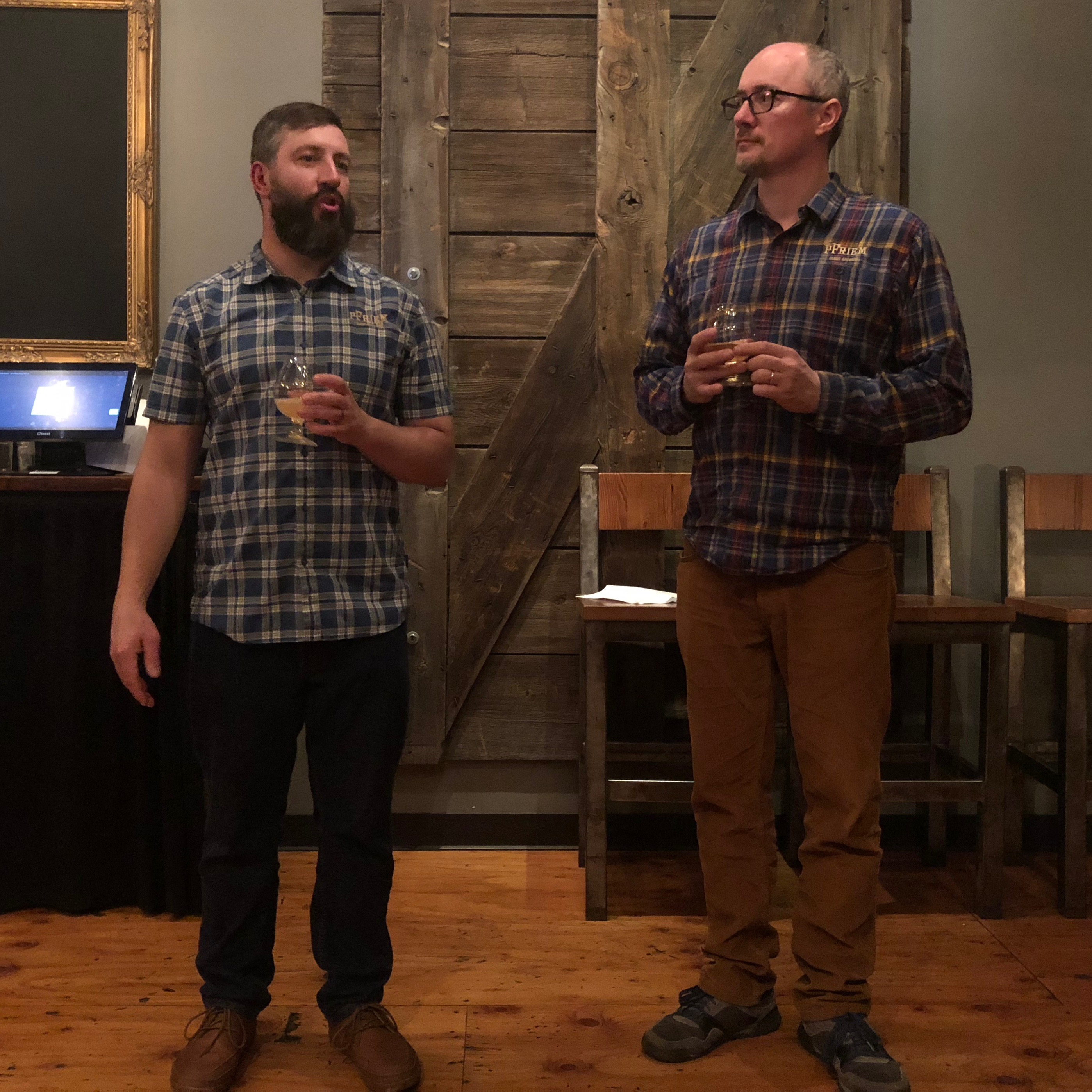 Josh Pfriem and Rudy Kellner, two of the three founders of pFriem Family Brewers.