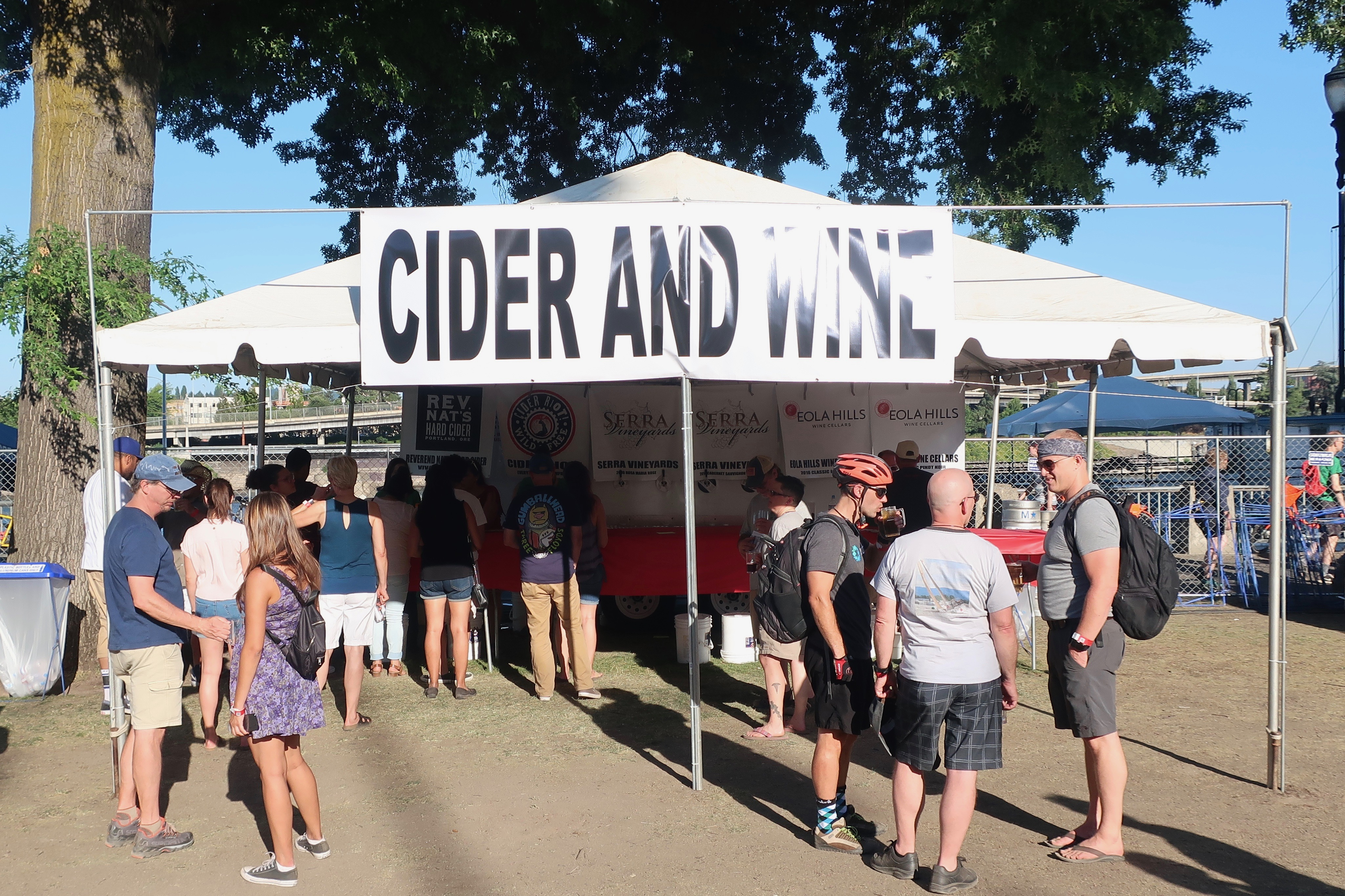 New this year at the 2018 Oregon Brewers Festival is cider and wine.