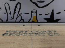 The always fun shuffleboard at West Coast Grocery Co.