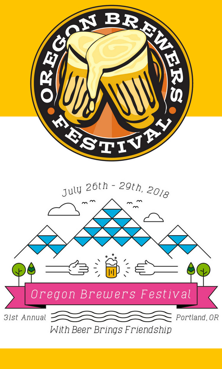 The home screen on the 2018 Oregon Brewers Festival App.