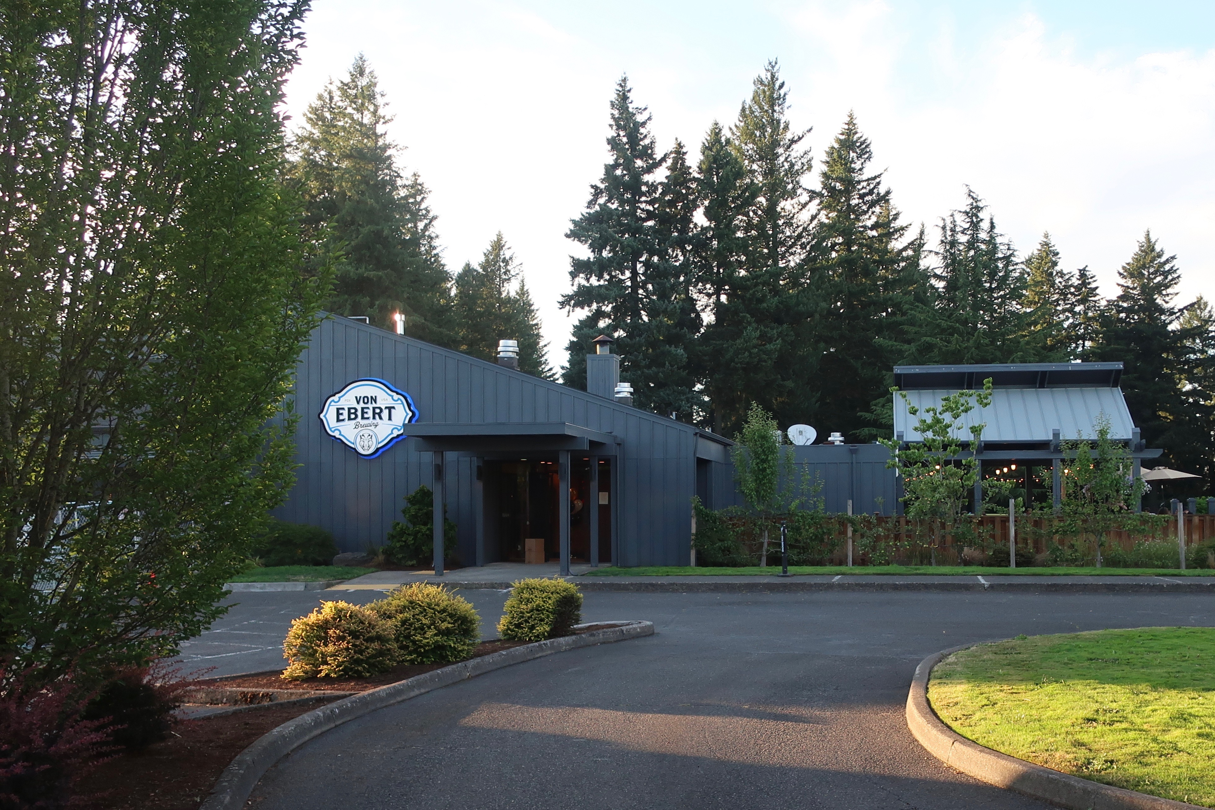 Von Ebert Brewing - East located at Glendoveer Golf Course.