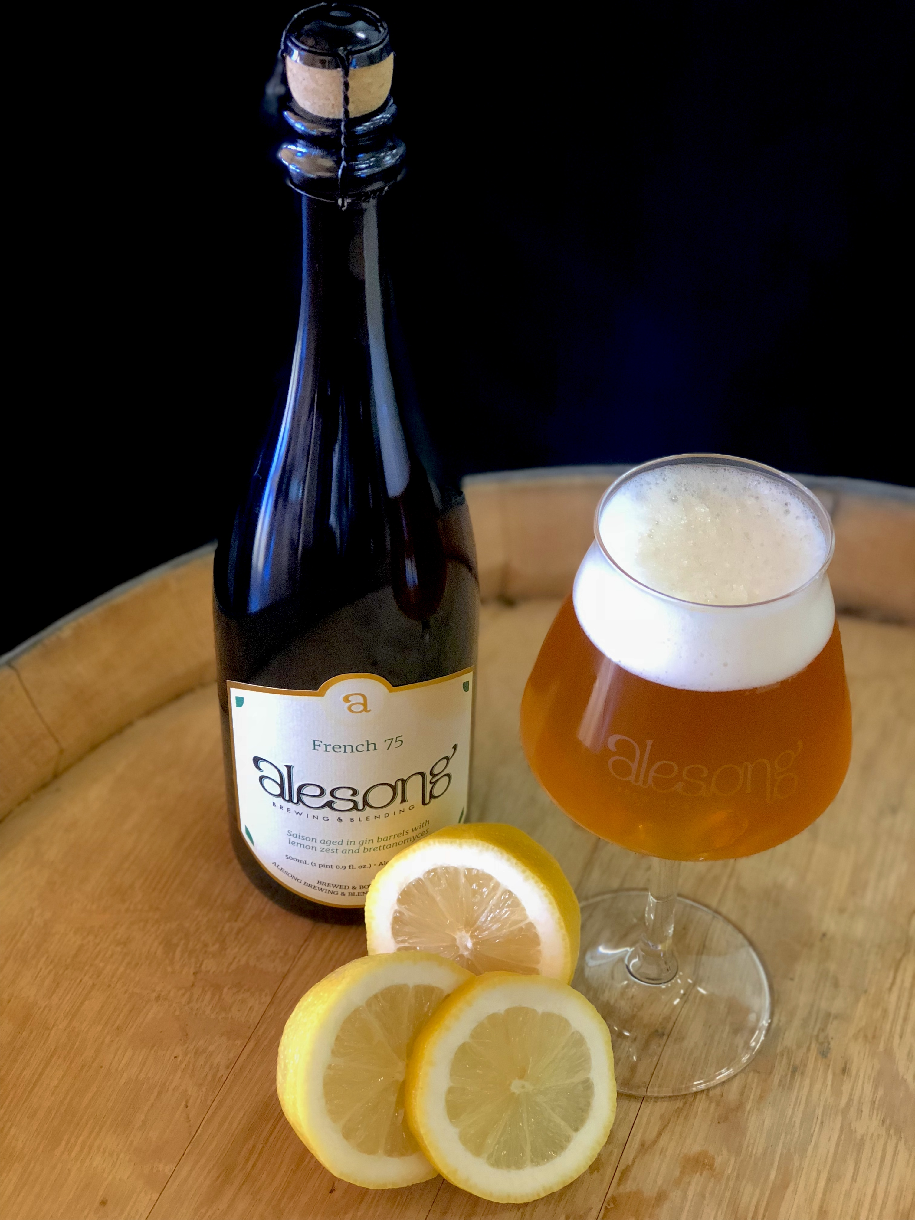 image of French 75 courtesy of Alesong Brewing & Blending