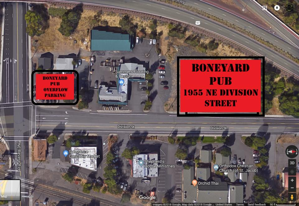 Boneyard Pub Parking Map