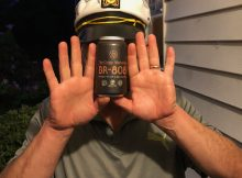 Captain Canal MacWhaler models the new can of Melvin Brewing's BR-808 American IPA.
