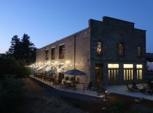 Stone Brewing - Napa at night.