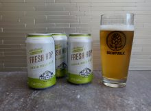 The 2018 Fresh Hop season has begun. Two Beers Brewing has released its Fresh Hop IPA in 12 ounce cans.