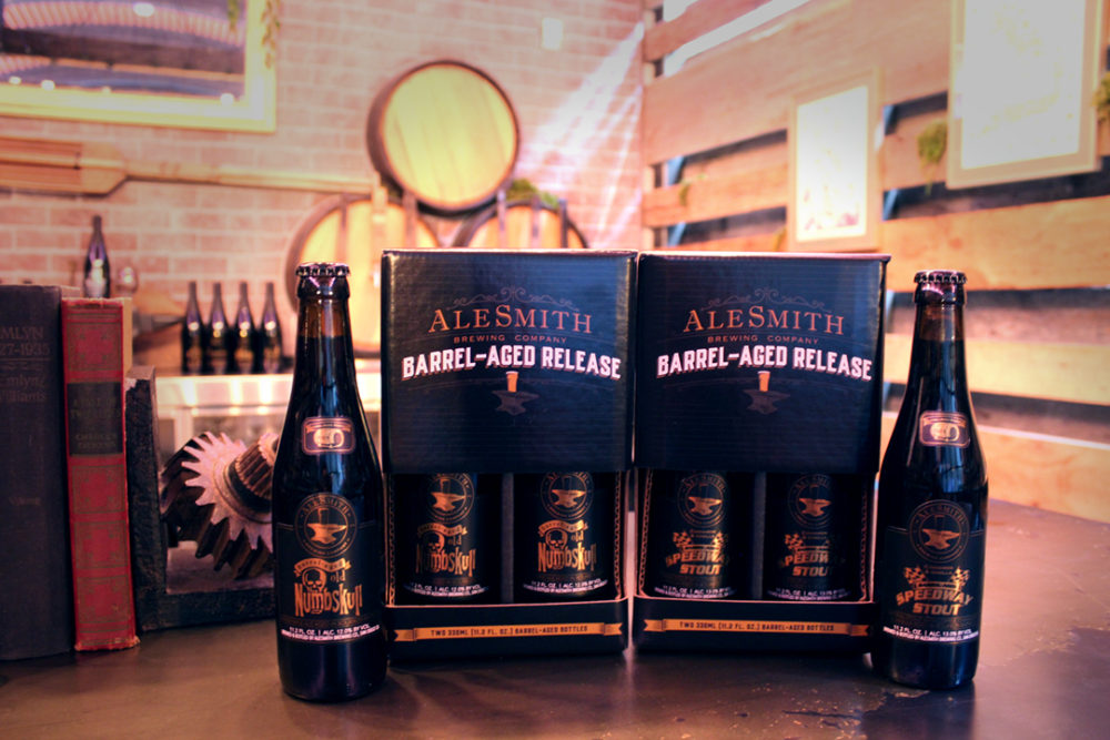 image of Cinnamon Vanilla Barrel-Aged Speedway Stout and Barrel-Aged Old Numbskull Available in 330 ml Bottles courtesy of AleSmith Brewing