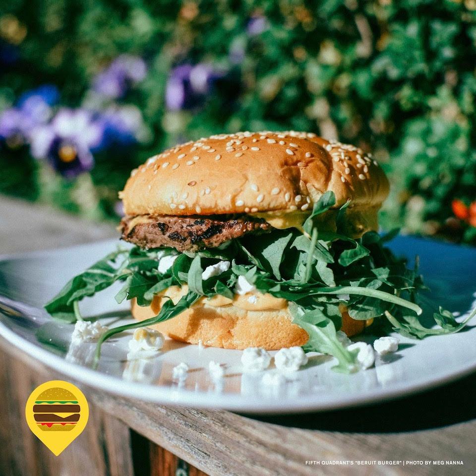image of Lompoc Beruit Burger courtesy of Meg Nanna