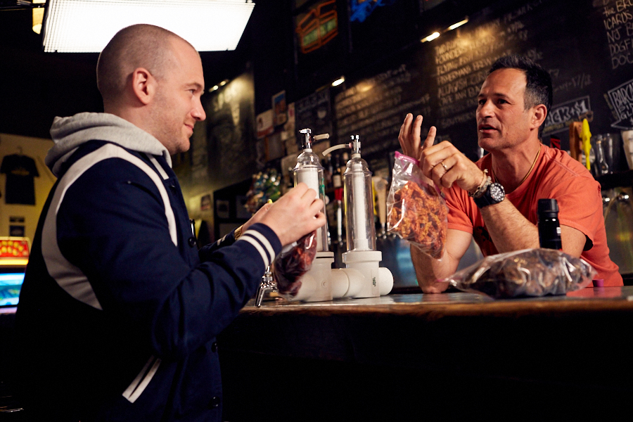 image of Sam Calagione and Sean Evans courtesy of Thats Odd Lets Drink it!