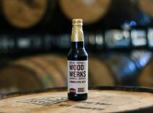 image of Wood Werks No. 3 Barrel Aged Brown Rye Ale courtesy of Great Divide Brewing