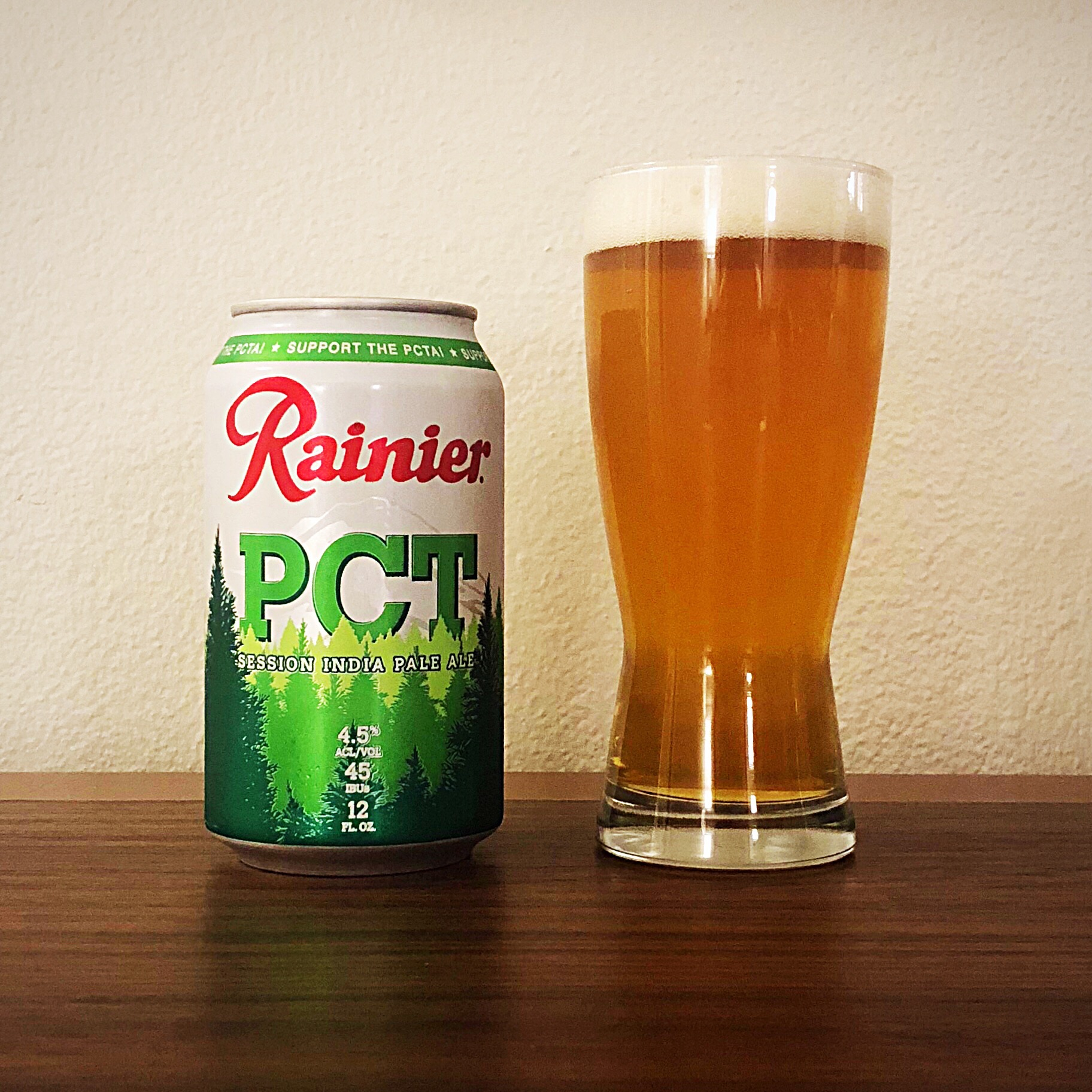 A pour of the new Rainier PCT Session IPA.