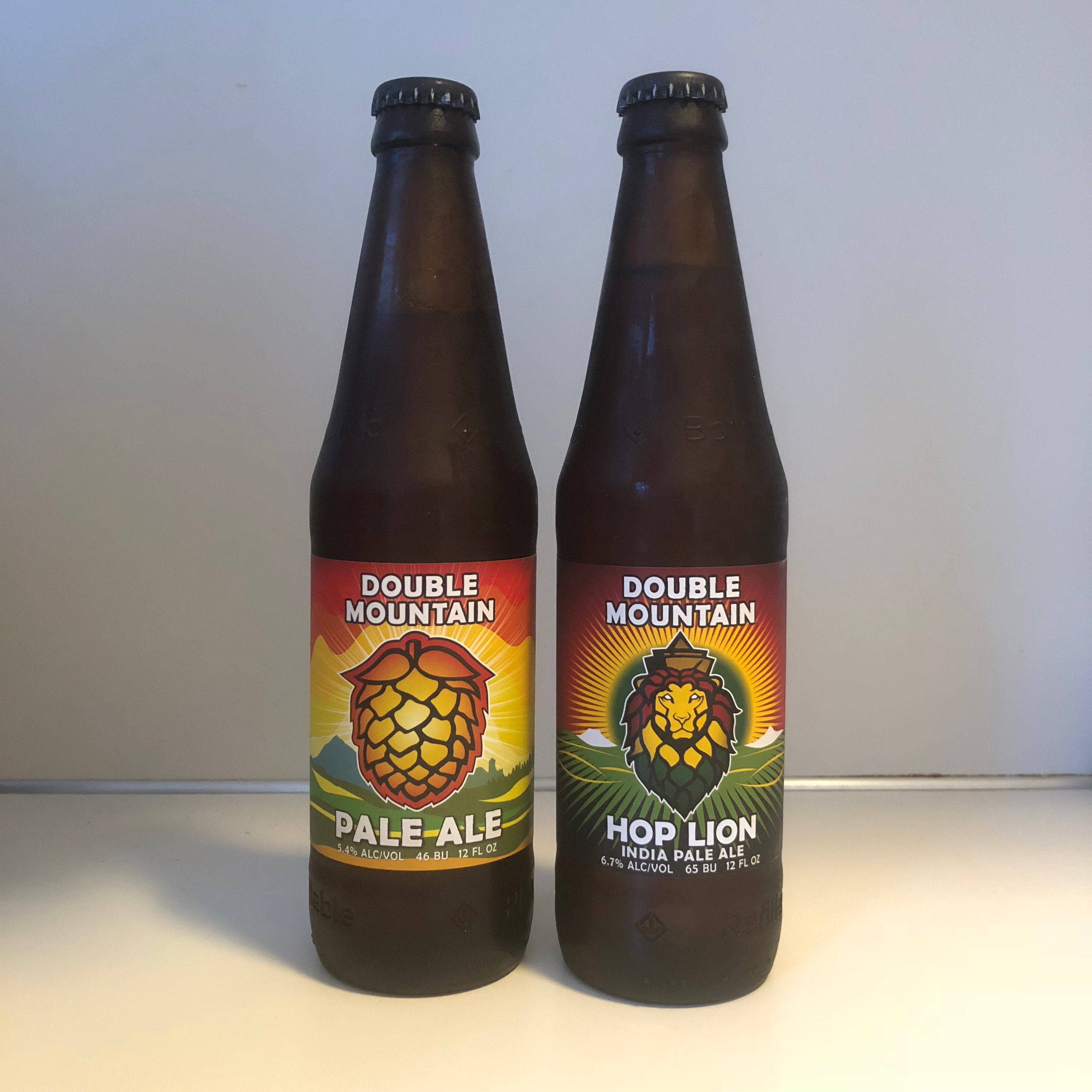 Double Mountain's new 12 ounce refillable bottles of Pale Ale and Hop Lion IPA.
