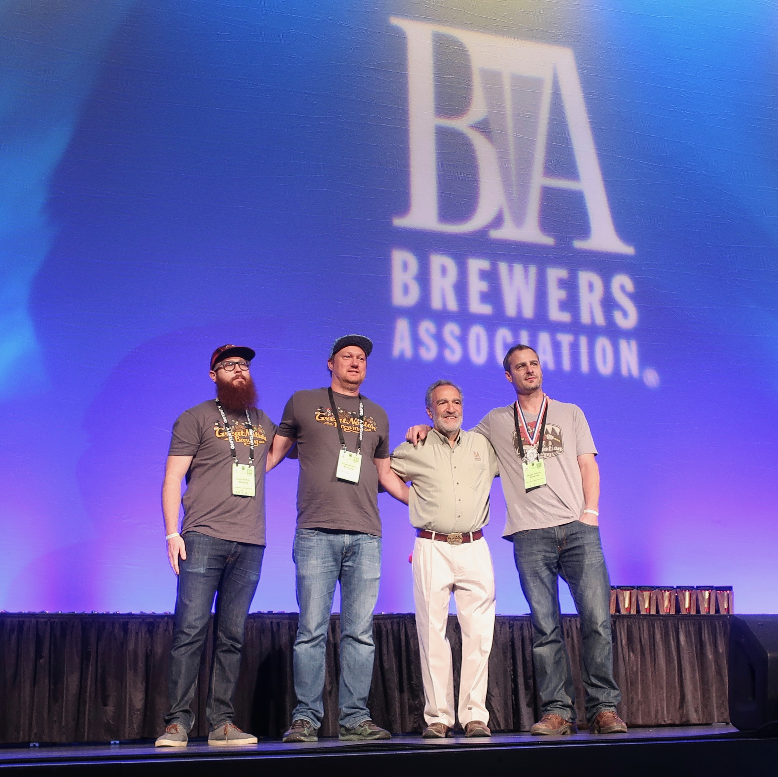 Great Notion on stage for its medal at the 2018 Great American Beer Festival.