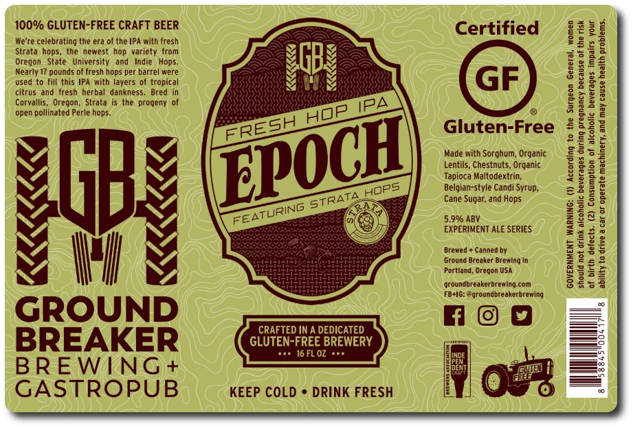 Ground Breaker Brewing EPOCH Fresh Hop IPA