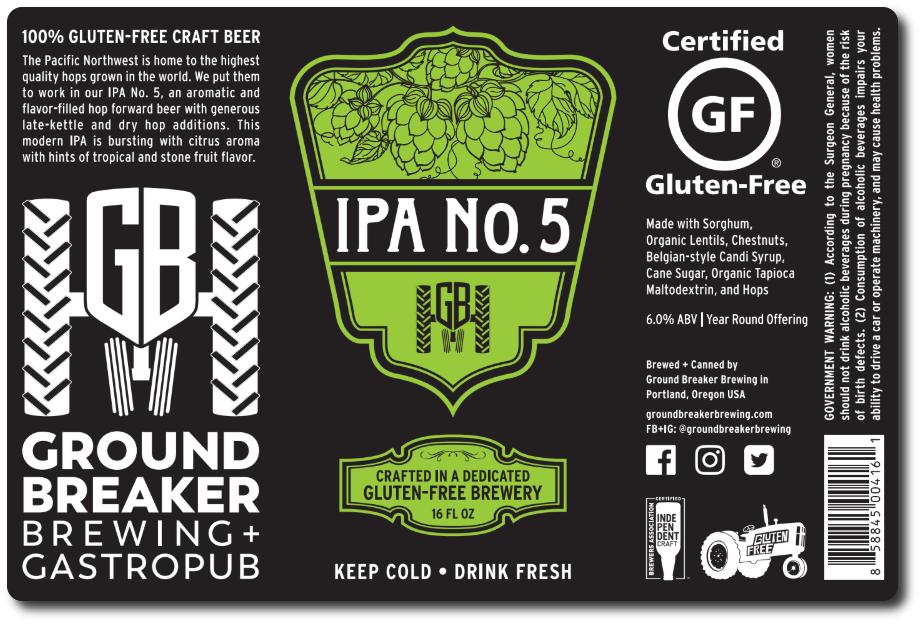 Ground Breaker Brewing IPA No. 5
