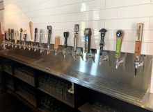 ZPizza Tap Room features 18 rotating taps of beer that compliment its selection of pizzas.