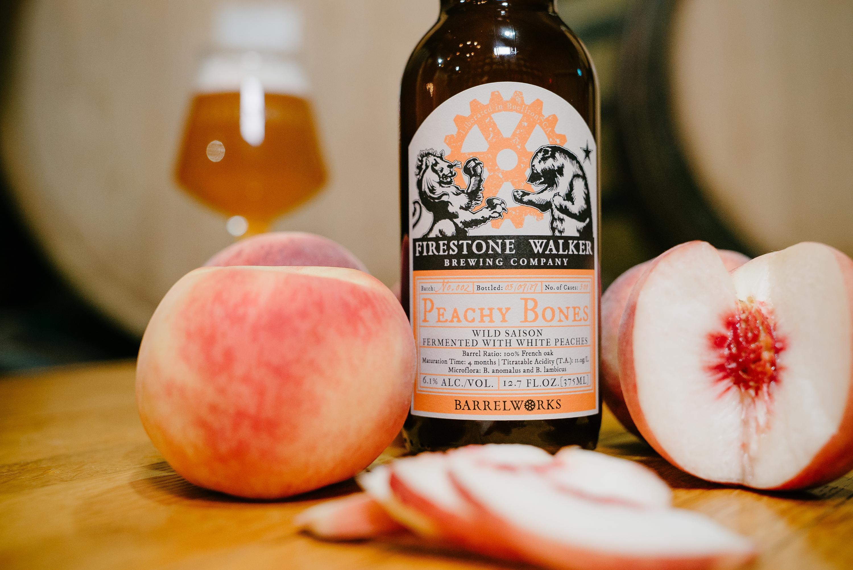 image of Barrelworks Peachy Bones courtesy of Firestone Walker Brewing