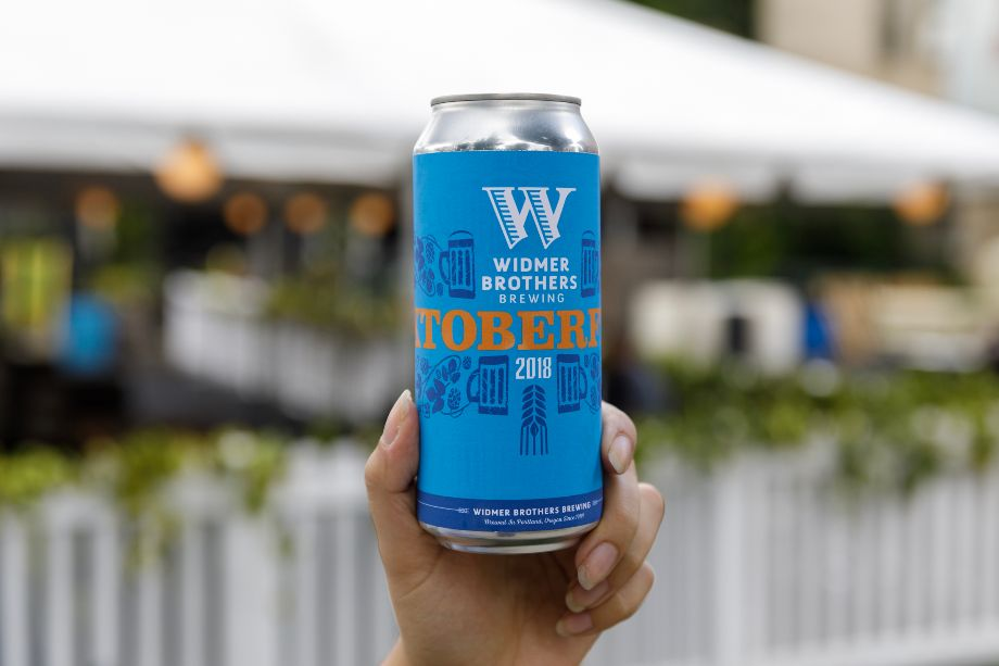 image of Widmer Oktoberfest Can courtesy of Widmer Brothers Brewing