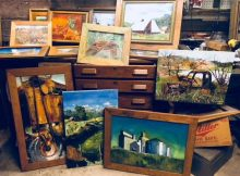 A few of the paintings from John Foyston that will be part of the gallery at Artistic Portland.