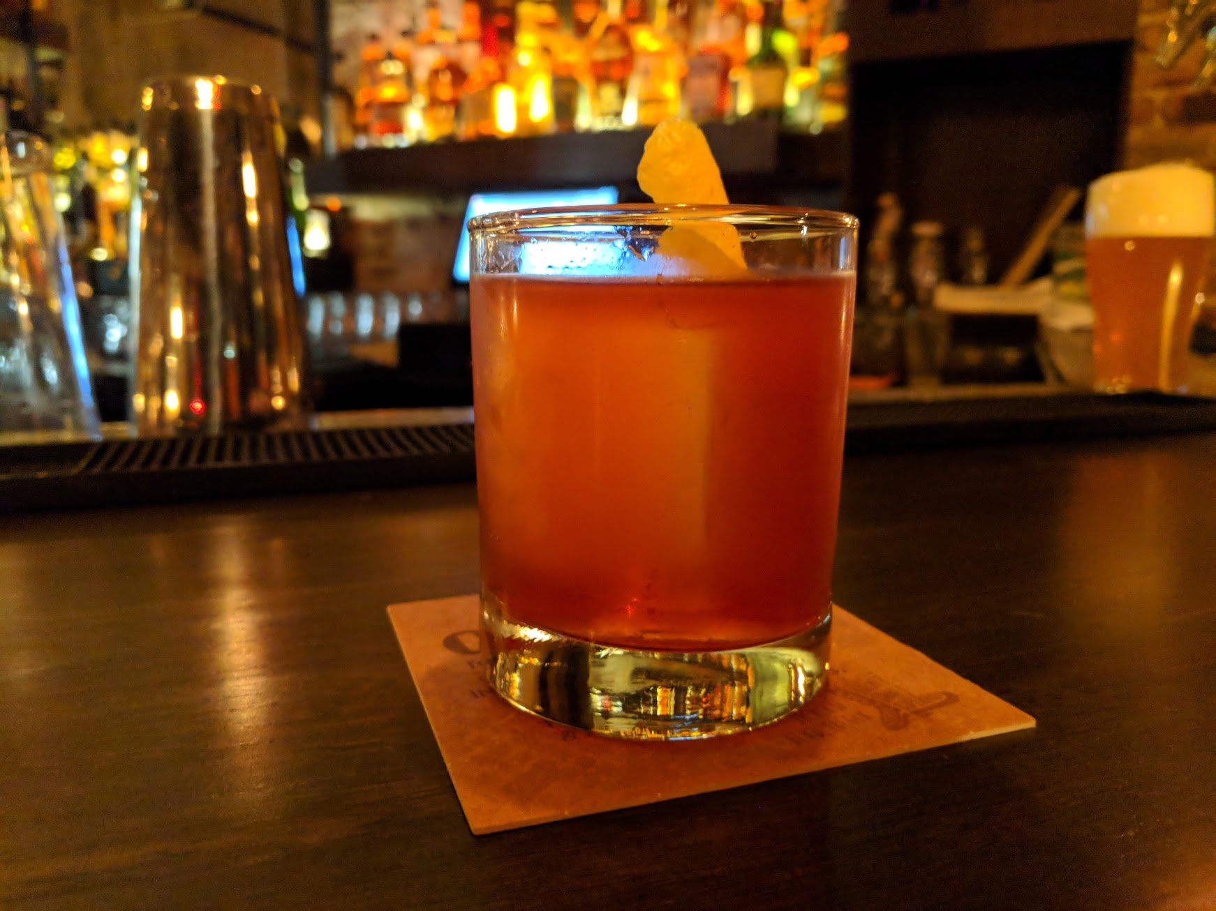 Bantam Tavern Old Fashioned on tap. (photo by Nick Rivers)