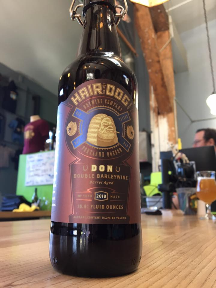 Bottles of Don Double Barleywine available at Hair of the Dog Brewing for $25.00 each. (image courtesy of Hair of the Dog Brewing)