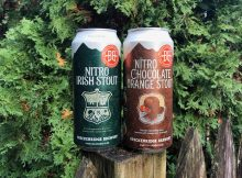 Cans of Breckenridge Brewery Nitro Irish Stout and its new Nitro Chocolate Orange Stout.