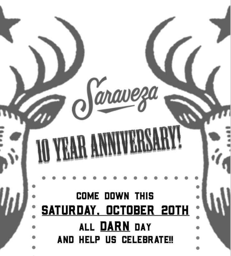 Saraveza 10 Year Anniversary 2008-2018