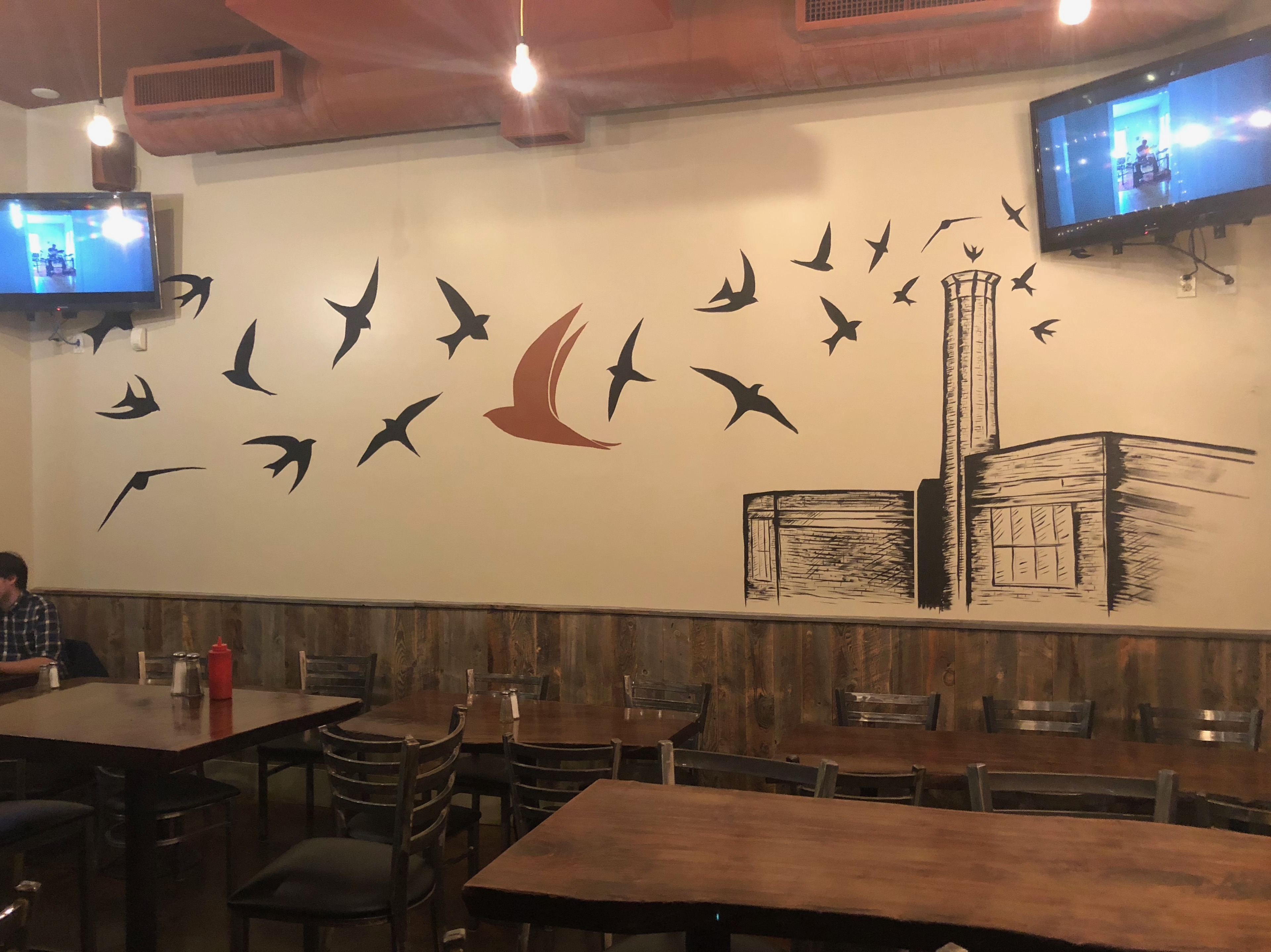Swifts and Chapman School adorn the north interior was at Avenue 23 Tap & Table.