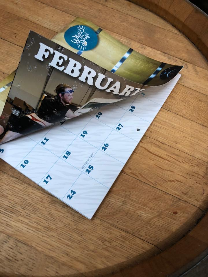 You can purchase the 2019 Sexy Brewers Calendar at 54°40' Brewing Company 3rd Anniversary on Saturday. (image courtesy of 54°40' Brewing Company)