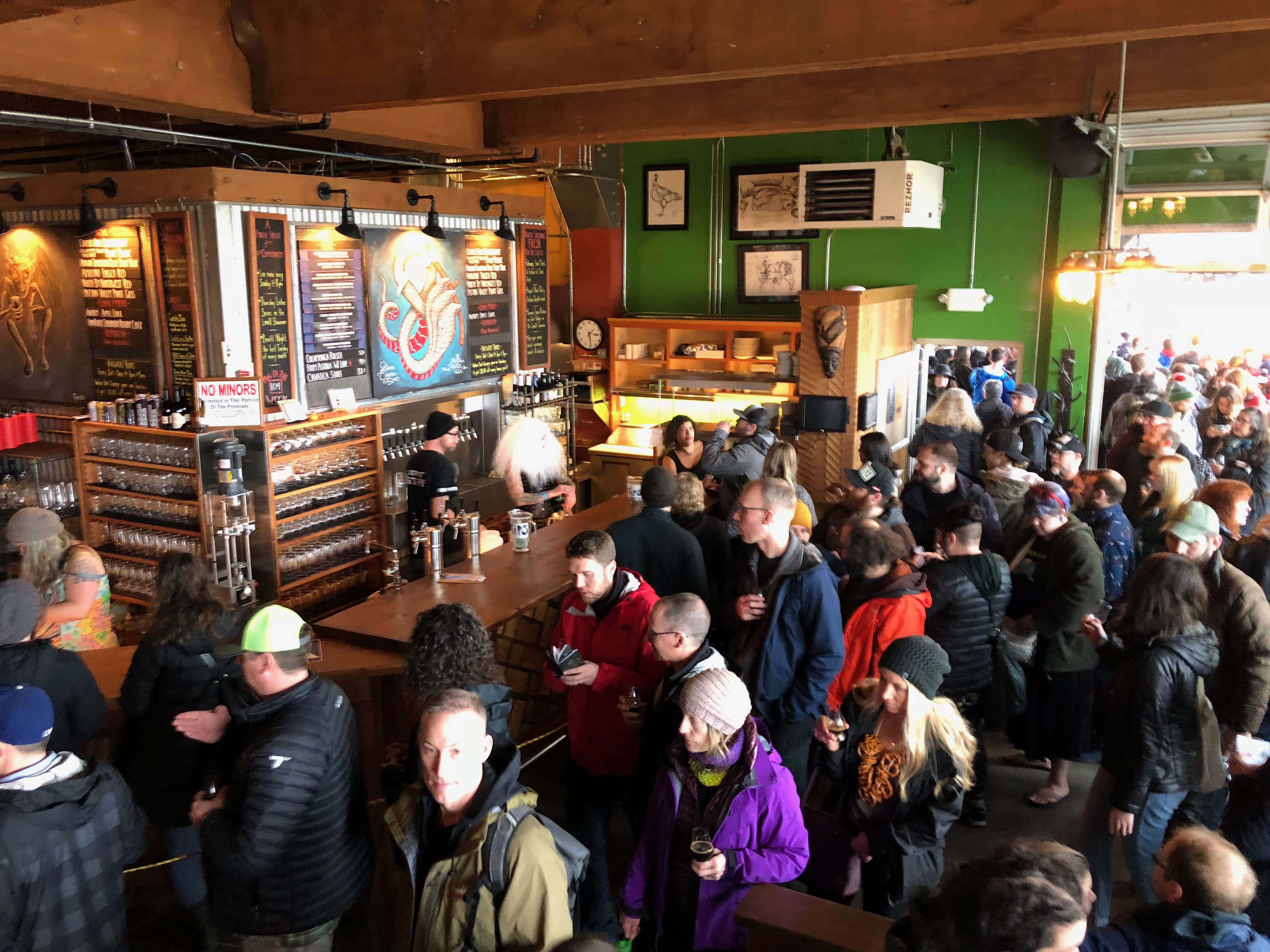 Festival goers at the 2018 Festival of Dark Arts at Fort George Brewery.