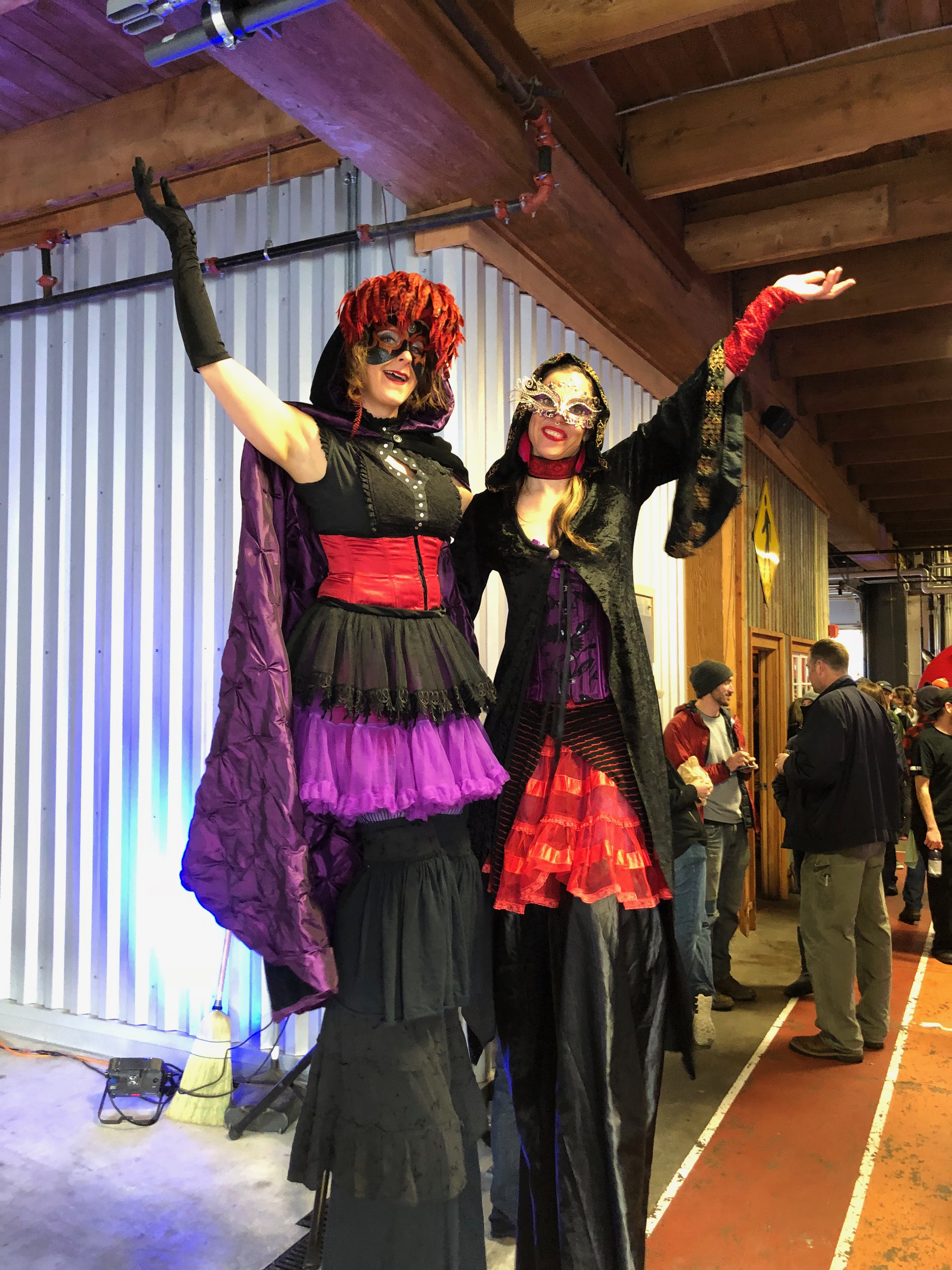 Stilt walkers at the 2018 Festival of Dark Arts at Fort George Brewery.
