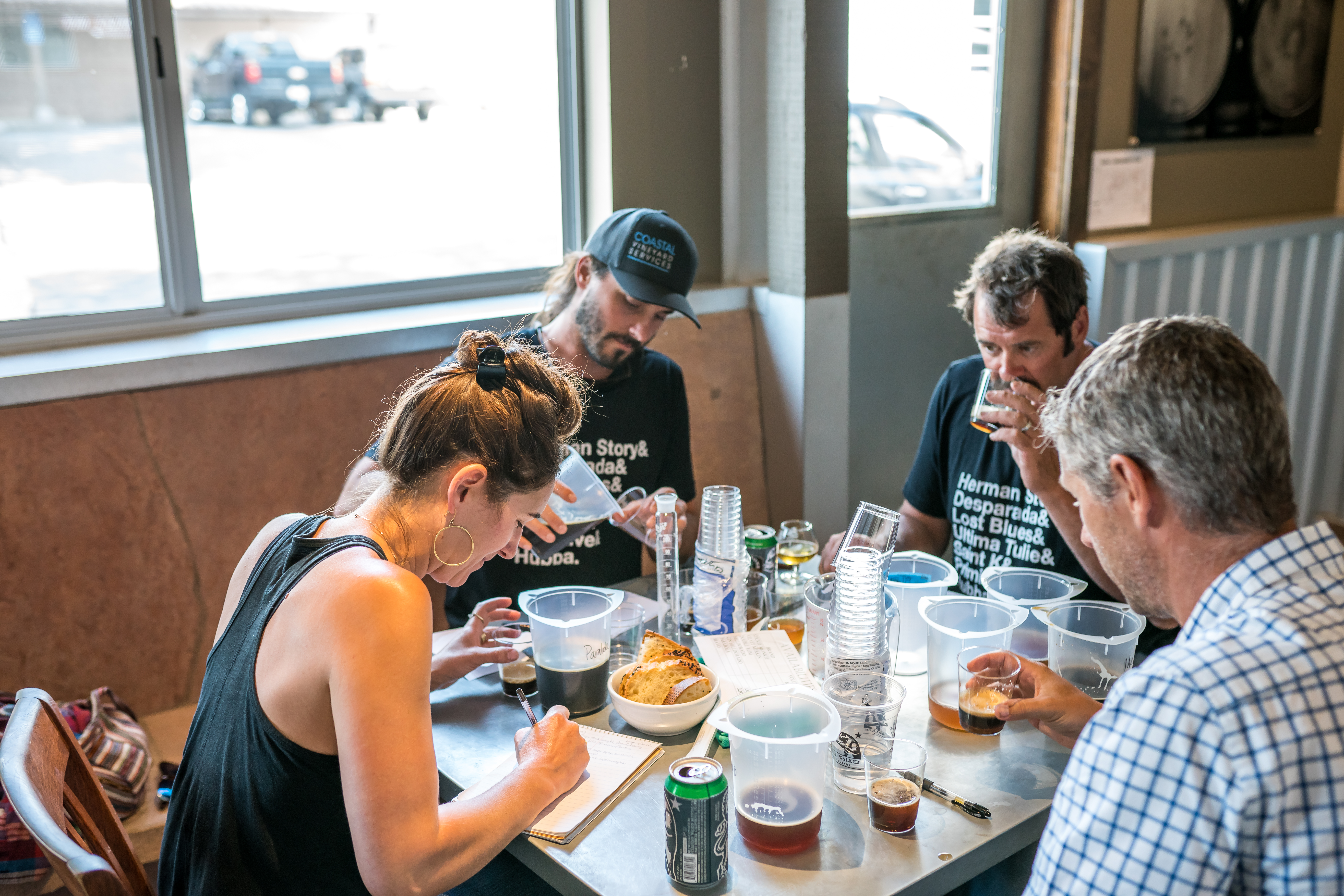 The wine makers during the blending process that became Firestone Brewing XXII Anniversary Ale. (image courtesy of Firestone Walker Brewing)