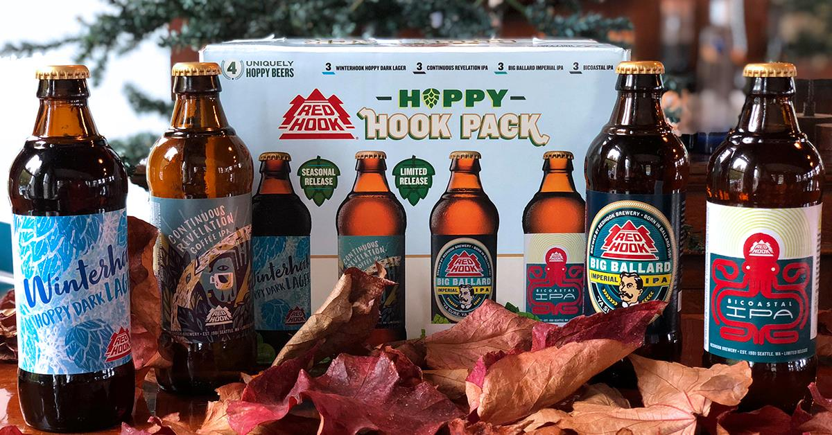 image of Redhook Hoppy Hook Pack courtesy of Redhook Brewery