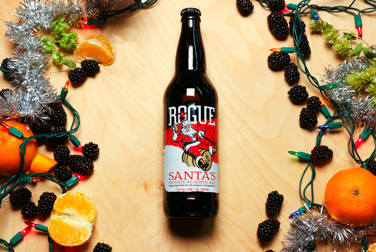 image of Santa's Private Reserve Ale courtesy of Rogue Ales
