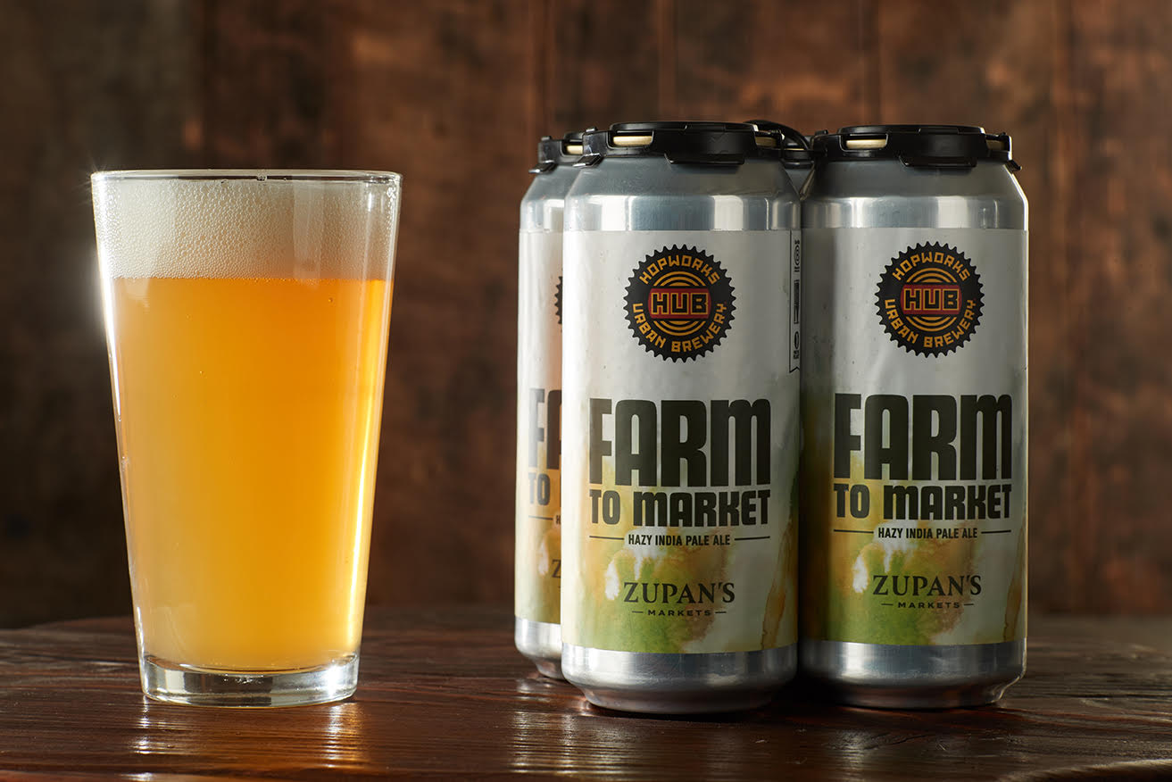 image of Zupan's Market and Hopworks Urban Brewery Farm To Market Hazy India Pale Ale courtesy of Zupan's Markets