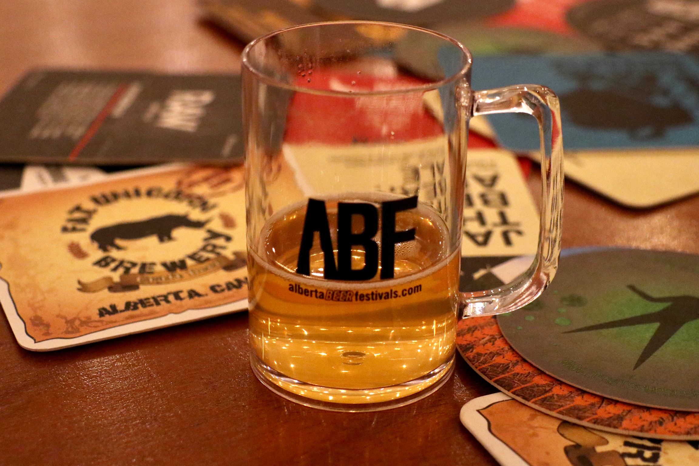 ABF Taster Mug at the Banff Craft Beer Festival.