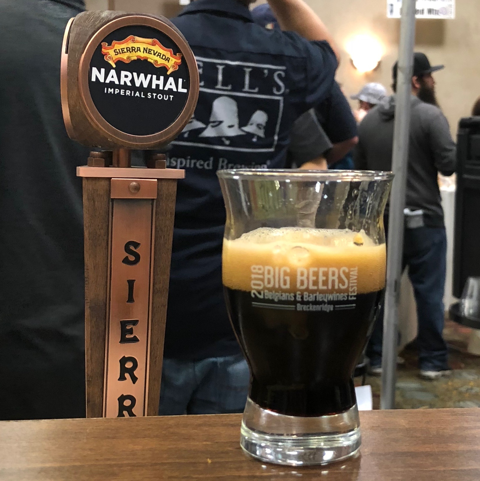 Always great to have a pour of Sierra Nevada Brewing Narwhal while at Big Beers, Belgians & Barleywines Festival.
