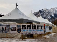 Banff Craft Beer Festival entrance.