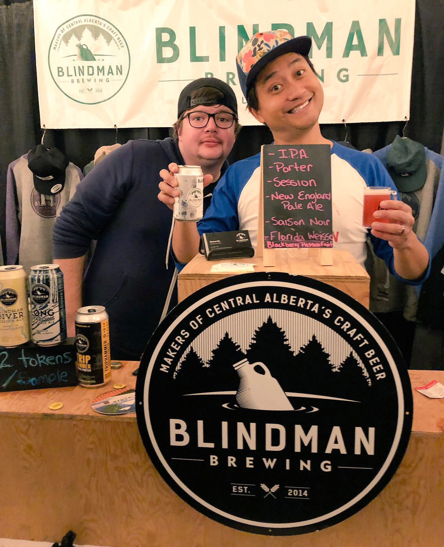 Blindman Brewing pouring at the Banff Craft Beer Festival.